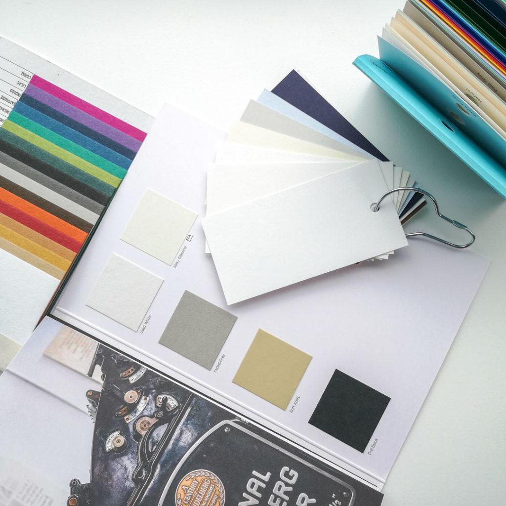 Letterpress Verschillende Papiersoorten