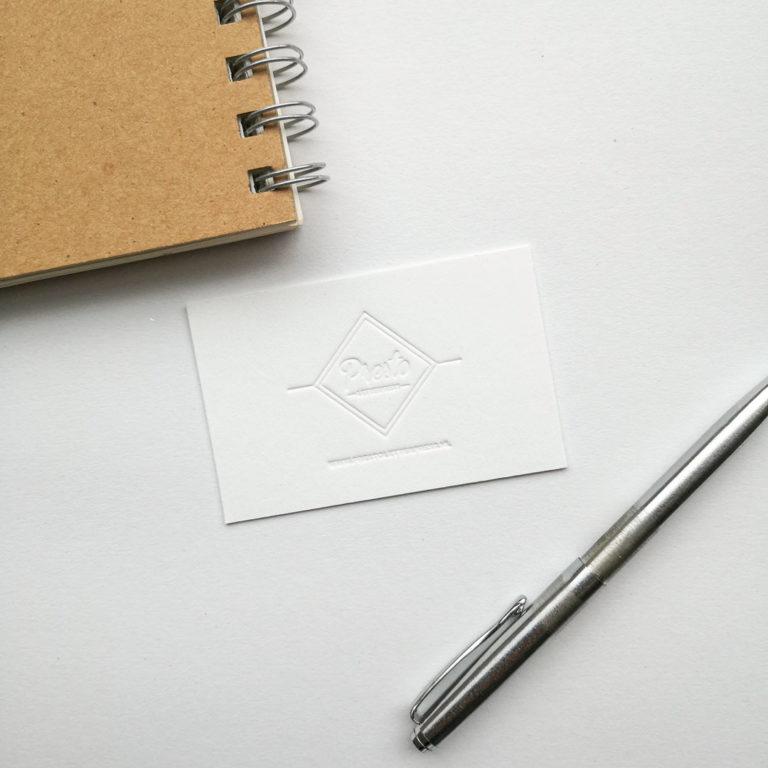 Letterpress Visitekaartjes Blinddruk