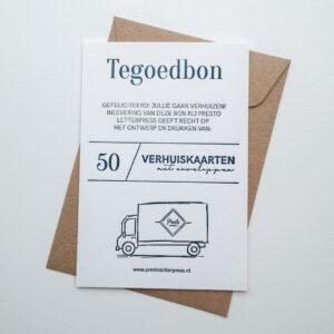 Letterpress Tegoedbon